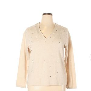 Zara Size Pullover Sweater tan color